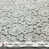 자카드 직물 꽃 부채 모양으로 만들어진 복장 레이스 직물 (M1403)