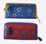 De het glanzende Leer van Pu/Bloem van Nice Dame Wallet