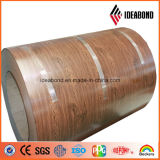 Tira de alumínio da cor interior de madeira do olhar
