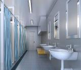 Jeûnent la Chambre construite de conteneur de paquet plat pour la toilette publique