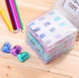 Sharpener de lápis colorido agradável do fornecedor do escritório dos artigos de papelaria
