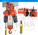 10 tonnellate Double Speed Material Handling Electric Chain Hoist con Electric Trolley /4 Fall Chains