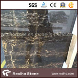 Chinese Gouden Marmeren Plakken Nero Zwarte Portoro voor de Muur van de Badkamers
