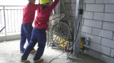Máquina automática duradera de la representación de la máquina de la pintura del cemento para sir Lanka Market