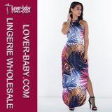 Женщина напечатала платье Clubwear вечера сексуальное (L28056)