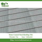 Hoja revestida de piedra de la azotea del metal (azulejo de madera)