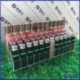 Étalages Opération-À gradins acrylique clair de crémaillère d'organisateur de 36 rouge à lievres/de plateau mémoire de produits de beauté