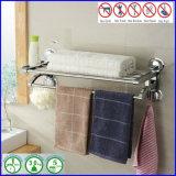 L'acier inoxydable sanitaire de salle de bains a passé la crémaillère d'essuie-main plaquée avec la cuvette d'aspiration