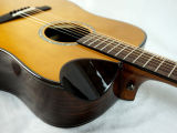 Guitarra acústica de Aiersi Dreadnaught com forma especial Cutway Sg02crn-41 da bacia
