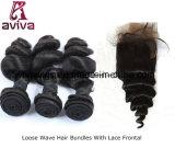 波のペルーの自然なバージンの毛の拡張を緩めなさい