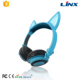 Bons écouteurs stéréo d'oreille de chat de la qualité sonore MP3