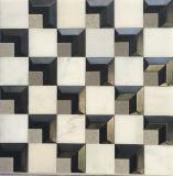 Acier inoxydable de mosaïque de marbre beige pour TV Bachground (FYSM108)