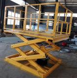 Plate-forme hydraulique stationnaire de levage de levage de ciseaux de véhicule