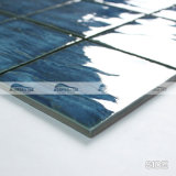 "4 "" x4 "" Wave Pattern 파란 Grey Porcelain Swimming Pool Tiles (BCP701)"