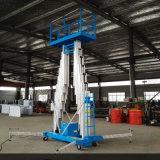 De dubbele Hydraulische die Lift van de Legering van het Aluminium van de Lijst van het Werk van de Mast in uit Bouw wordt gebruikt