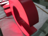 Zaken van Adbertising verlichtten Teken van het Neon van de Douane van de Brief van het Kanaal van 3D Vervaardigde LEIDENE van het Metaal van het Roestvrij staal van het Teken het Aluminium Alfabet van het Teken Rode Open
