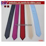 Relation étroite de cravate tissée par jacquard en soie neuf classique de relations étroites de Mens (T8084)