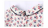 T-shirt de vêtements de filles tissé par coton 100% pour l'été