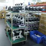 Microscopio biológico invertido rutina manual con la visera del yelmo quíntupla (LIB-305)