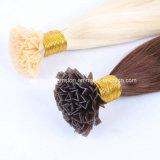 Extensões pre ligadas humanas do cabelo da ponta do cabelo V do Virgin brasileiro