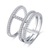 Diamant 3 van het zirconiumdioxyde Ronde Uitstekende Ringen voor Vrouwen (CRI1037)