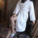 100%年の綿の豪華なワッフルの浴衣(DPFT8041)