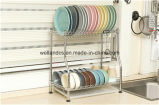 DIY Chrome Metal Plate Dish Drainer Rack com design de patente