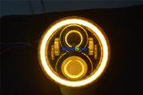 """J223 7 """" 50W角度の目適合のラングラーJk Cj Lj TjのハンマーHarleyとの円形のジープのLEDハローLedlamp"""