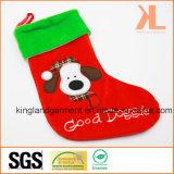 Qualitätsstickerei-/Applique-Samt-guter Hündchen-Hundeart-Strumpf für Dekoration