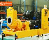 Equipo de bombeo grande del agua del flujo del motor diesel