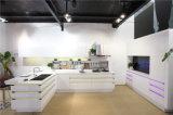 Gabinete de cozinha acrílico do MDF da cozinha moderna elevada do lustro 2016 na boa qualidade