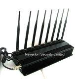 jammer 8-Antenna para a freqüência ultraelevada Lojack do VHF do GPS do controlo a distância de 2g 3G 4G 2.4gwifi