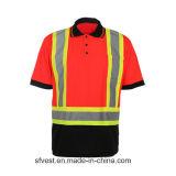 T-shirt van het Polo van de Band van de Veiligheid van de douane de Weerspiegelende met Netwerk Birdeye
