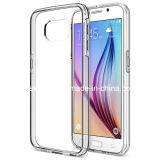 Caso de parachoques claro de la parte posterior TPU de la PC para la galaxia S7 de Samsung
