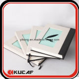 Kundenspezifisches Linen Hardcover A5 Flocking Pattern Notebook mit Magnetic Clasp