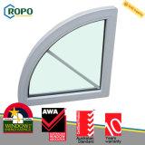 O plástico moderno da casa UPVC/PVC arqueou projeto fixo do indicador de vidro