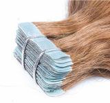 pelo drenado Drouble de la extensión del pelo de la cinta de la pulgada de 2.5g/Piece 8-30