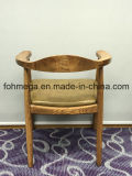 Presidenza antica del ristorante dell'hotel di legno solido di disegno con tappezzeria (FOH-BCC36)