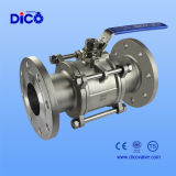 Flangia CF8 3PC Ball Valve con Nounting Pad