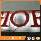Lettres en arrière allumées décoratives du signe DEL de cadre d'alphabet