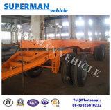 Pleine de chariot de tri d'essieu barre d'attelage de service de bâti remorque de camion semi en vente de cargaison