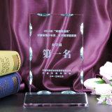 Trophée original fait sur commande de récompense de verre cristal pour le cadeau de souvenir d'affaires