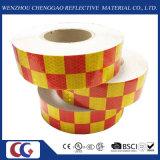 新しい反射等級の赤く黄色いチェッカーテープ(C3500-G)