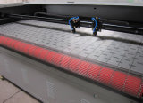 1800*1000mm de Dubbele het Voeden van Hoofden 100W AutoSnijder van de Laser voor Leer en Kledingstuk