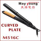 La fábrica M516 suministra directo 2 en 1 enderezadora y bigudí del pelo del diseño