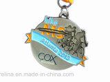 2D Medaglia in lega di zinco di sport del premio del ricordo del metallo con il nastro