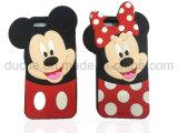 Caixa bonito do telefone do silicone de Mickey Minnie do PONTO da caixa para o jogo de Motorola G4 (XSD-002)