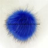 女の子のための優雅な擬似毛皮の球ののどの毛皮POM POM