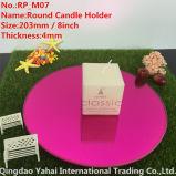 4mm Medium Round Dark Rose Glass Candle Holder