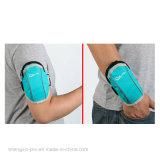 Poliester simple que ejecuta el bolso móvil del brazo con insignia de encargo